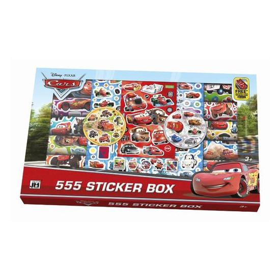 Samolepkový box 555 ks Auta