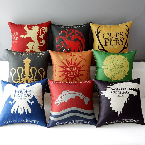 Polštáře Game of Thrones (Hra o Trůny) - všechny rody