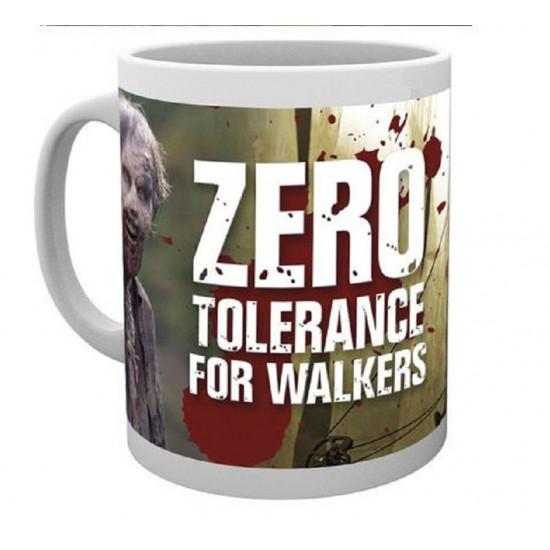 Hrnek The Walking Dead (Živí mrtví) - Zero Tolerance For Walkers