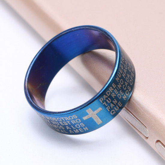 Prsten Království Nebeské (Bible) - modrý