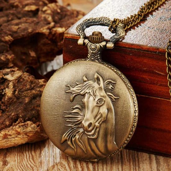 Kapesní hodinky - Černý hřebec