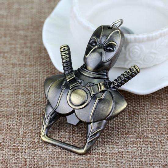 Klíčenka Deadpool - otvírák ( bronzová )