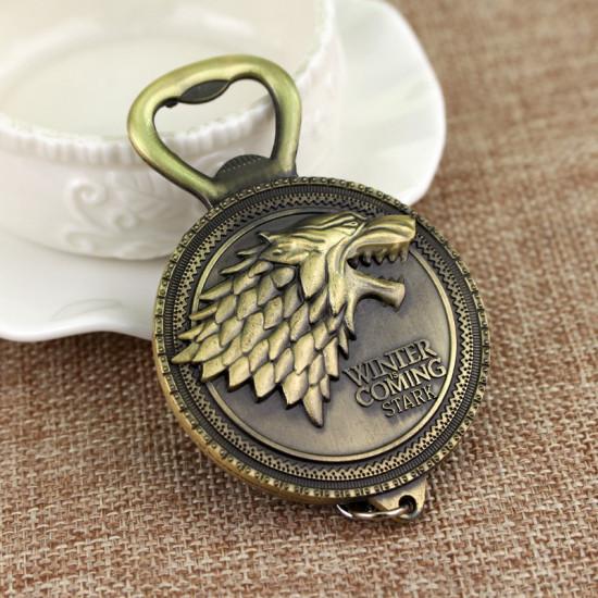 Klíčenka Hra o trůny Stark - otvírák ( bronzová )