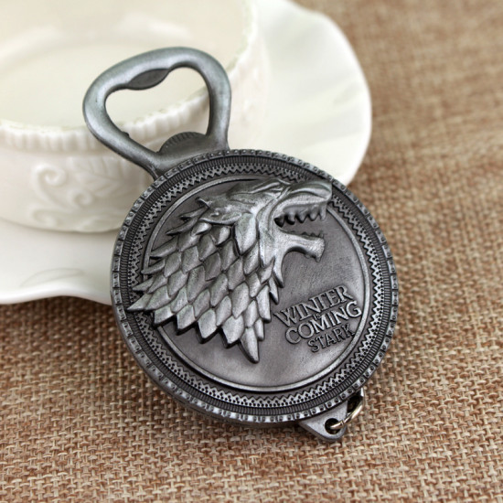 Klíčenka Hra o trůny Stark - otvírák ( stříbrná )