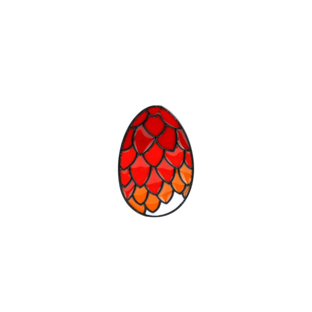 Brož Hra o Trůny - dračí vejce ( červené)