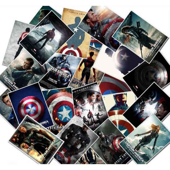 Samolepky - Kapitán Amerika