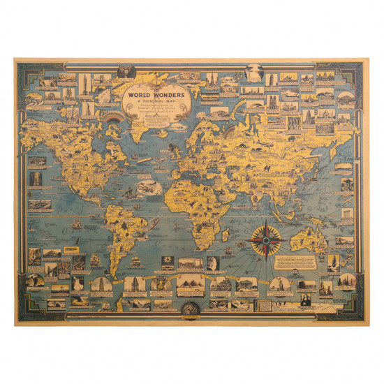 Mapa - Stavitelské zázraky světa