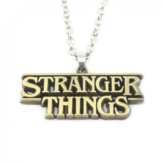 Řetízek Stranger Things - Zlatá ( logo)