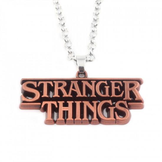 Řetízek Stranger Things - Červená ( logo)