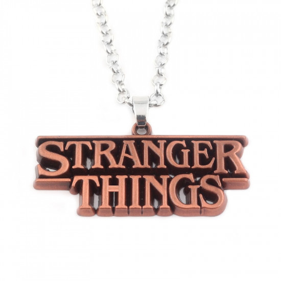 Řetízek Strabger Things - Stříbrná ( logo )