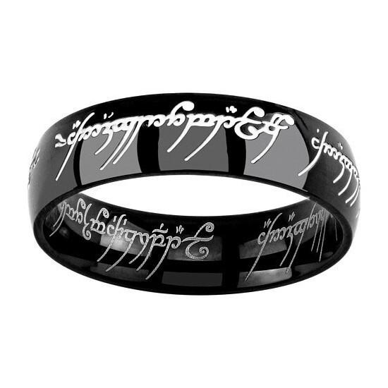 Prsten z Pána prstenů (černý)