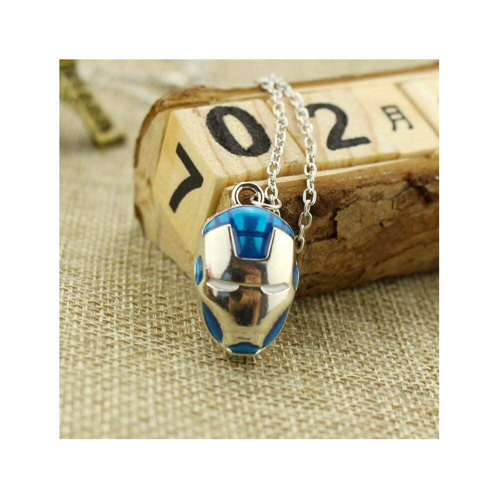 Řetízek Iron Man - modrý