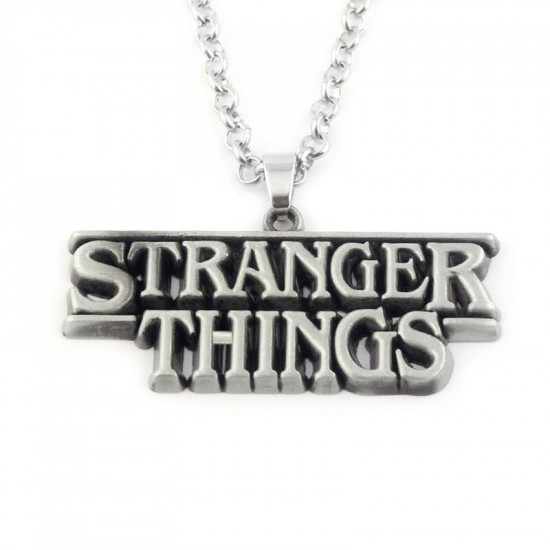 Řetízek Stranger Things - Stříbrná (logo)