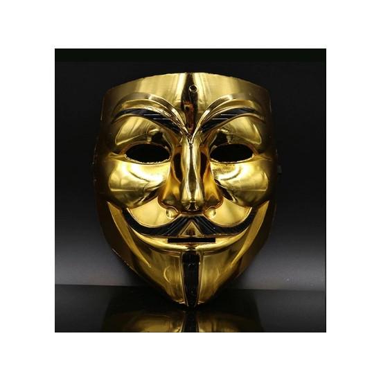 Maska - Anonymous (zlatá)