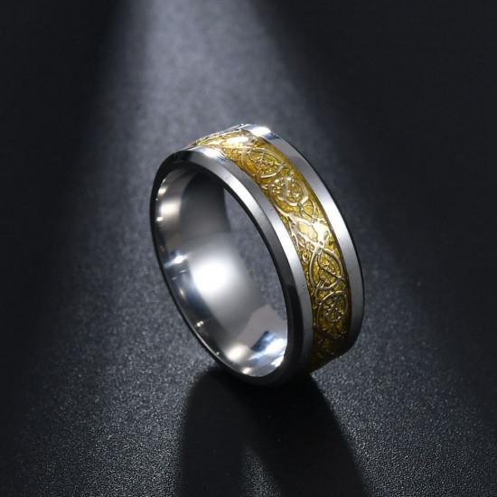Prsten - Dračí kámen (žlutý)