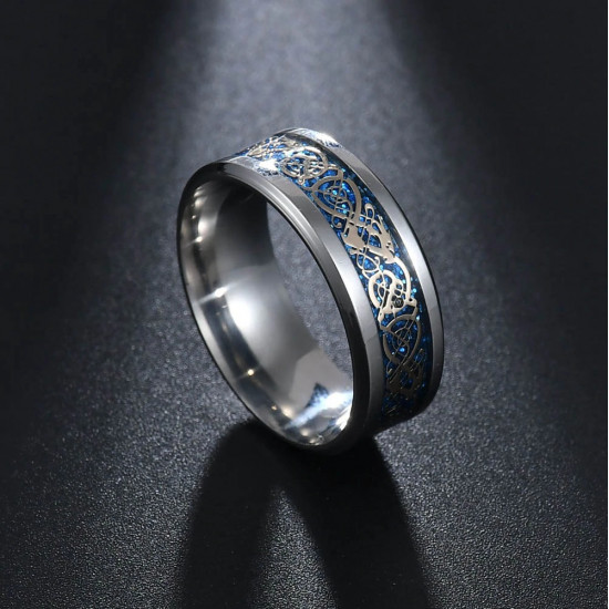 Prsten - Dračí kámen (světle modrý)