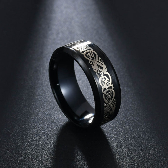 Prsten - Dračí kámen (černý)