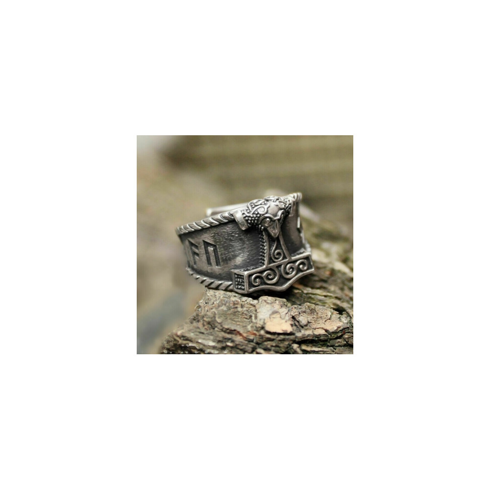 Prsten Vikingové - Kladivo 2 barvy (chirurgická ocel)